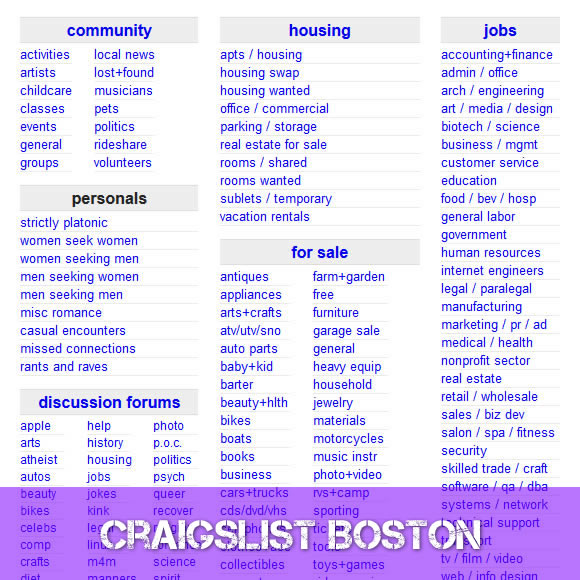 Craigslist Boston Massachusetts