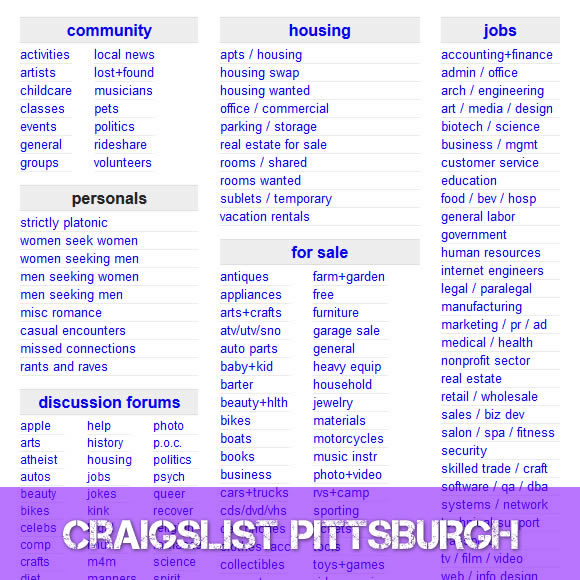 Craigslist Cars For Sale Pittsburgh Area