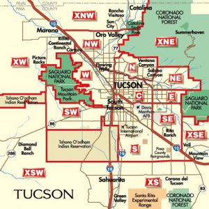 Tucson Arizona neighborhood map