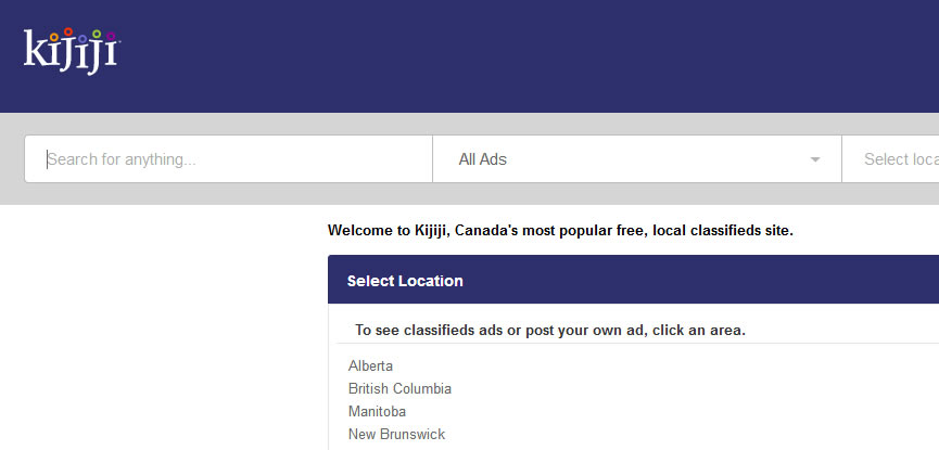 kijiji.ca website screenshot