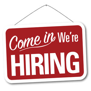 Now hiring sign for dcjobs.