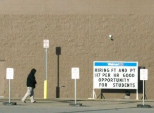 Walmart sign in North Dakota