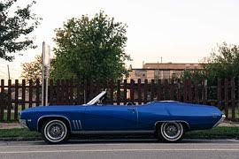 Blue convertible for sale in California