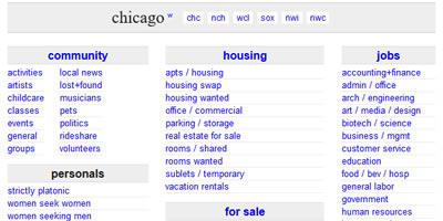 www.craigslist.com chicago home page