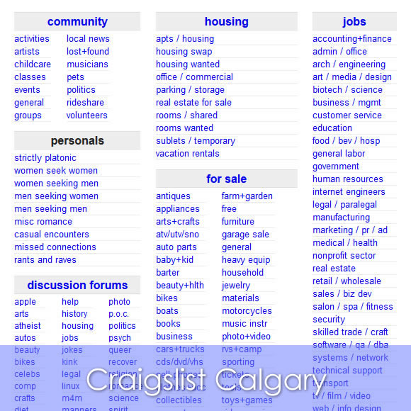 Craigslist Calgary Cars, Jobs, Apartments
