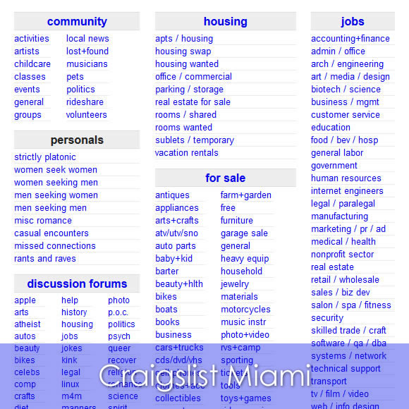 Craigslist Miami Beach Apartments
