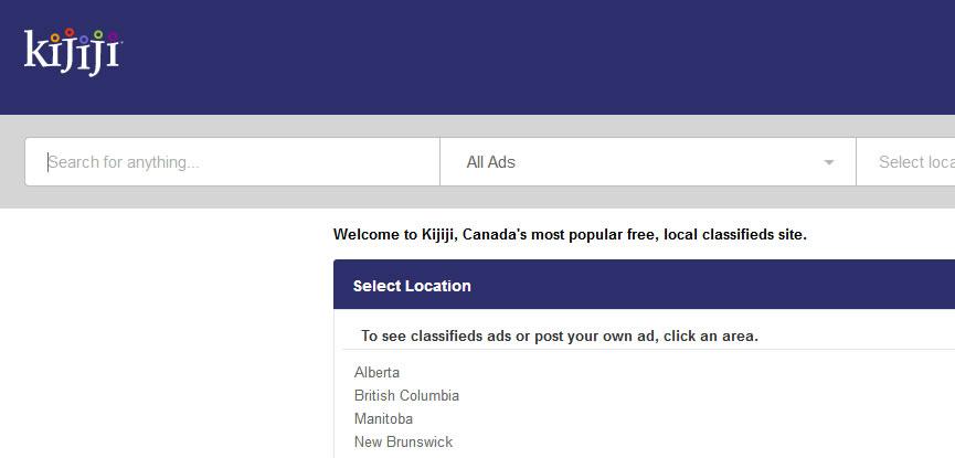 kijiji.ca website screenshot